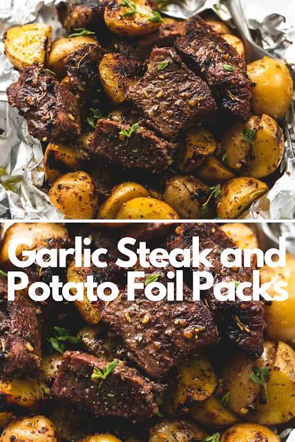 Garlic Steak and Potato Foil Packs