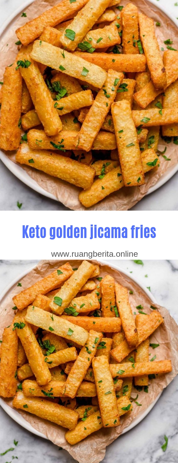 Keto golden jicama fries
