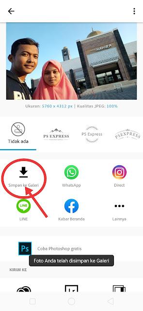 Edit foto selfie yang terbalik dengan Photoshop Express