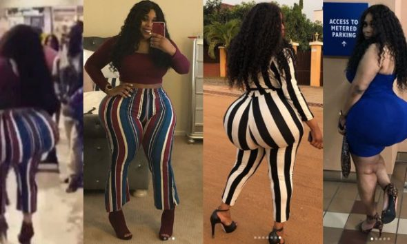Lady whose big butt caused commotion at airport has been identified (Check Out Her Instagram Handle)