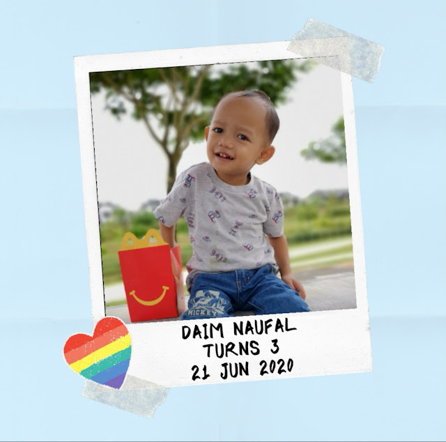 Daim Naufal 3rd birthday