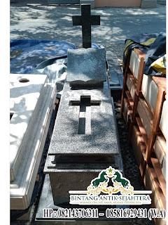 Harga Makam Granit, Model Kijing Granit Kristen
