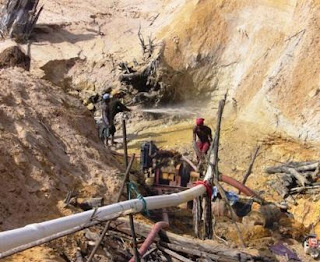 Artisanal and Small-scale mining (ASM) refers to unauthorized mining activities carried out using low technology or with minimal machinery.