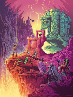 "He-Man and the Masters of the Universe ""By the Power of Grayskull"" Print by Dan Mumford x Gallery 1988"