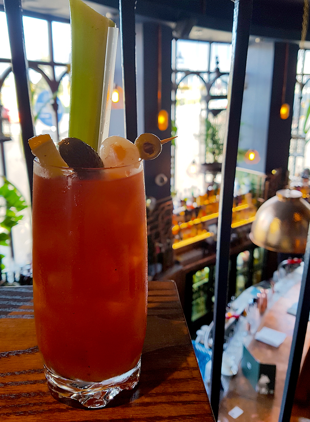 A Bloody Mary goes great with brunch at Bird and Bear Dundee