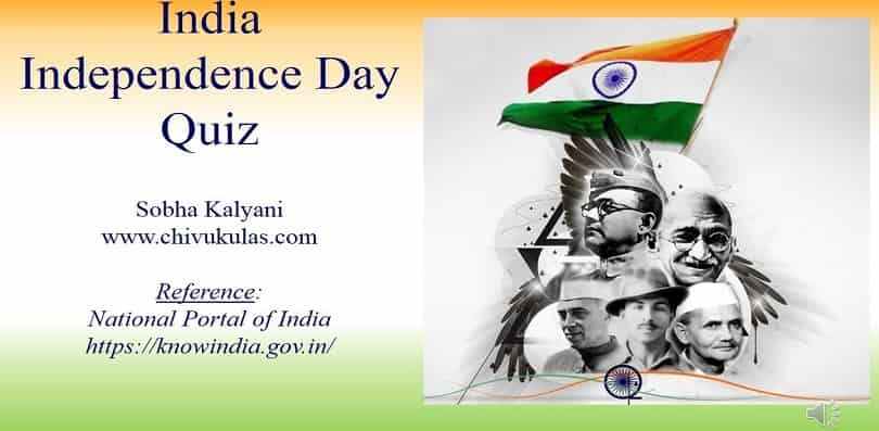 Independence Day 2021 Quiz