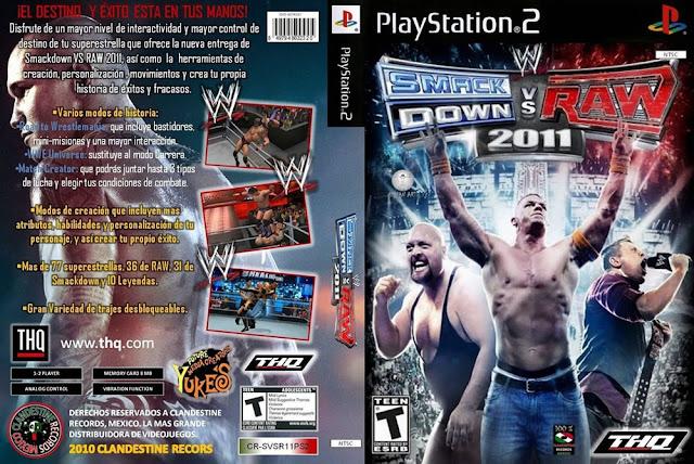 Descargar WWE SmackDown vs Raw 2011 ps2 iso NTSC-PAL. (también abreviado WWE SvR 20112 ) es un videojuego de lucha libre profesional desarrolladopor Yuke's y distribuido por THQ para los sistemas, PlayStation 2(PS2), PlayStation 3 (PS3), Wii, y Xbox 360. Es el duodécimo juego de la serie WWE SmackDown vs Raw y es la secuela deWWE SmackDown vs. Raw 2010. Fue lanzado el 26 de octubre de 2010 en América del Norte, el 28 de octubre de 2010 enAustralia y el 29 de octubre de 2010 en Europa. El juego se basa en las dos marcas de la World Wrestling Entertainment (WWE),Raw y SmackDown.