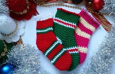 Calcetines para Navidad, paso a paso