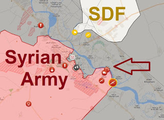 Syrian Army crosses eastern bank of Euphrates River