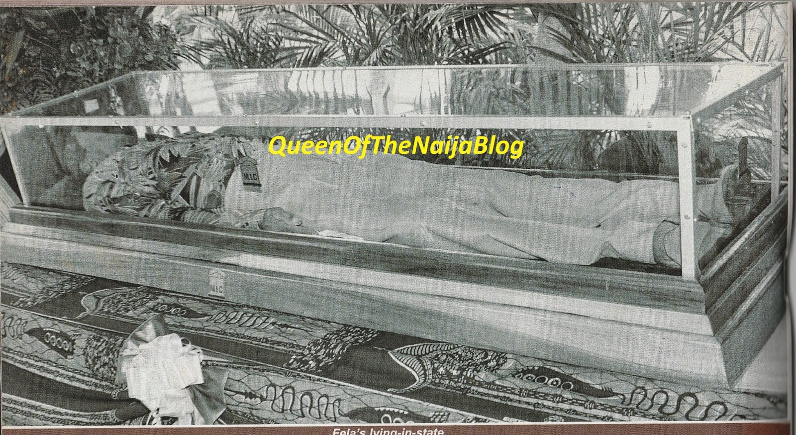Image result for photos of fela lying in state