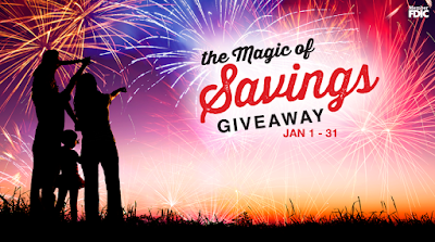 Enter the The Magic of Savings Giveaway. Ends 1/31