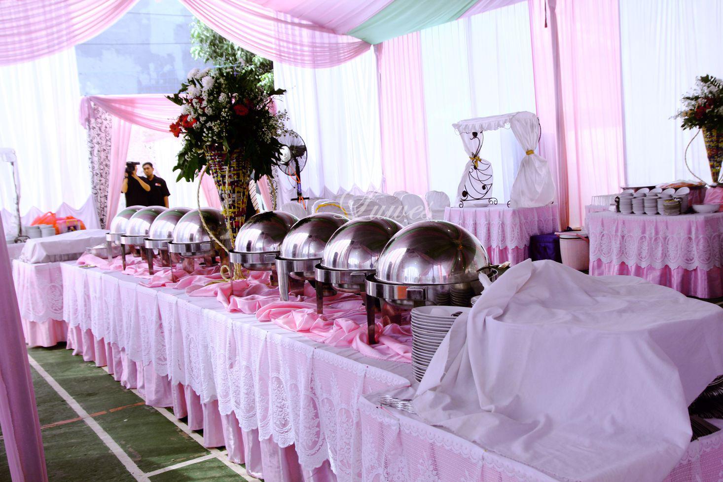 Paket catering pernikahan untuk pernikahan di rumah dengan 400 undangan