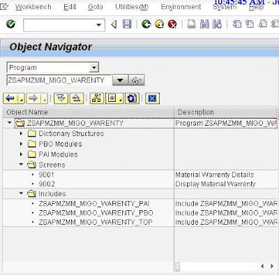 How to create a custom TAB for MIGO Item Details