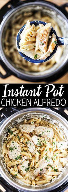 The Best Instant Pot Chicken Alfredo Pasta