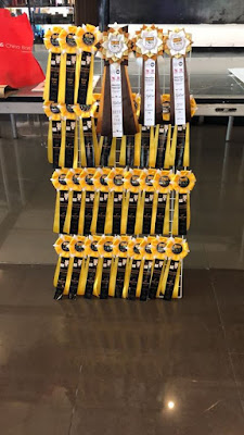 Yellow cat show award ribbons during Meowcon Manila 2019