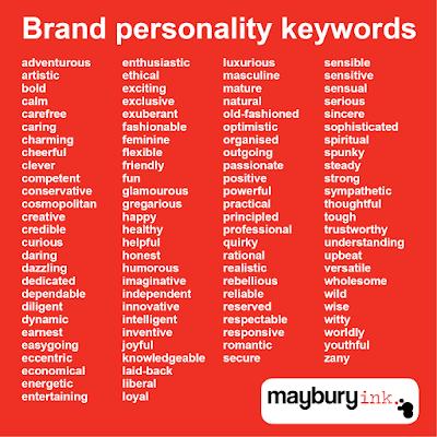 Brand personality Maybury Ink.