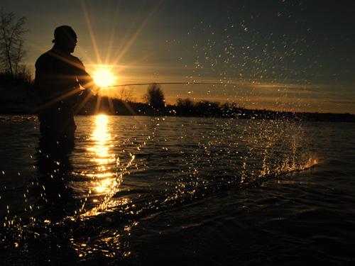 pêcheur lumière