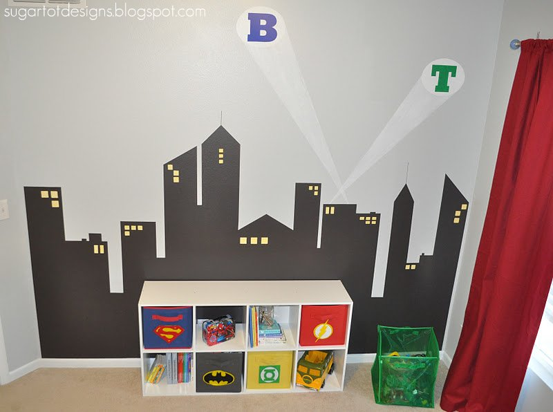 I found this AMAZING tutorial on how to make your pictures look like they  are in a comic book  Had so much fun taking their pictures and turning them  into. Remodelaholic   Boys Superhero Bedroom