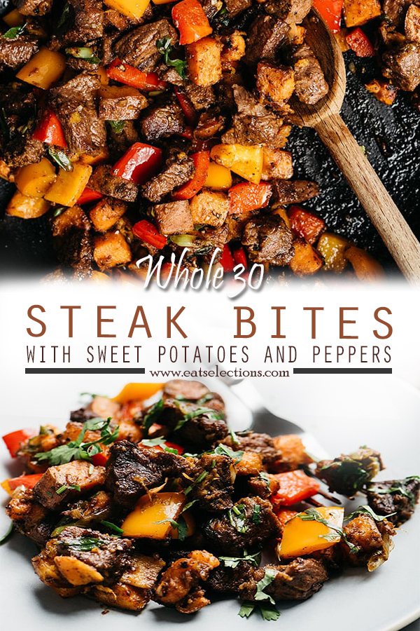 Whole30 Steak Bites with Sweet Potatoes and Peppers Recipe