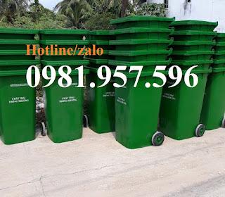 Thùng rác công cộng, thùng rác 120 lít, thùng rác 240 lít, thùng rác công viên