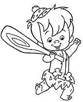 Pebbles And Bam Coloring Pages Sketch Coloring Page