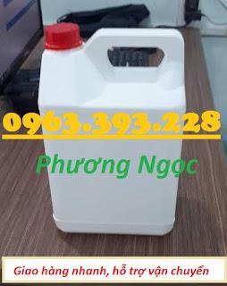 Can nhựa 5 Lít, can đựng hóa chất, can nhựa HDPE nguyên sinh 5L4