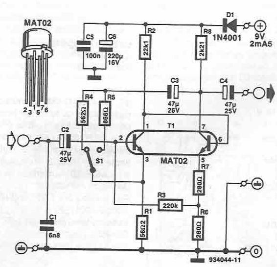 microphone amplifier using mat02