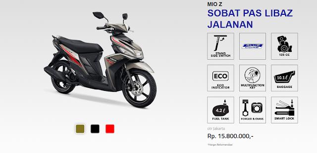 Spesifikasi Yamaha Mio Z