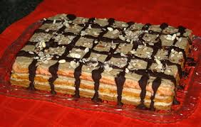 A rectangular Cake that is served in Jesus Christ Birthday and New Year Party