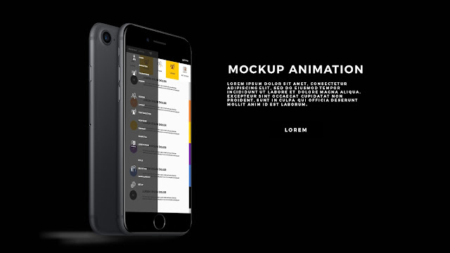 App Screen Mock-UP Animation PowerPoint Template Slide 1