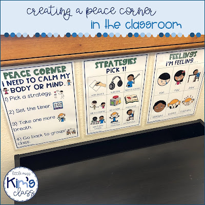 Making a Peace Corner / Calm Down Space in Special Education Classroom