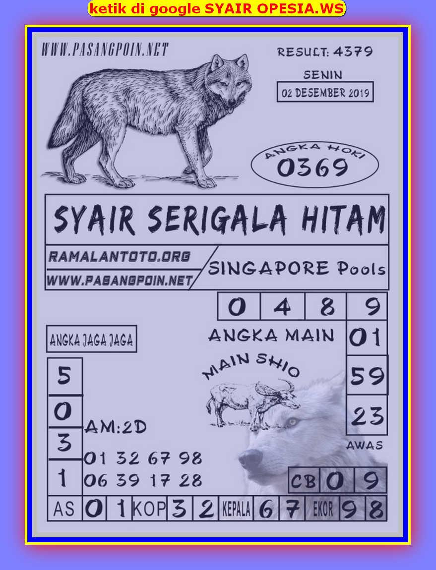 Kode syair Singapore Senin 2 Desember 2019 102