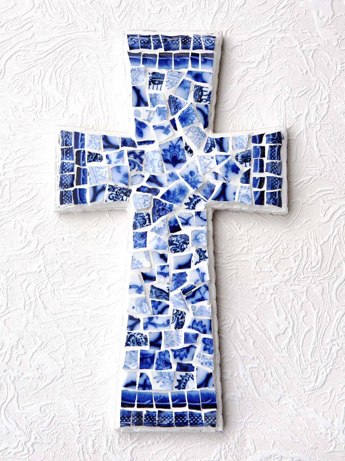 Flow Blue Mosaic Cross