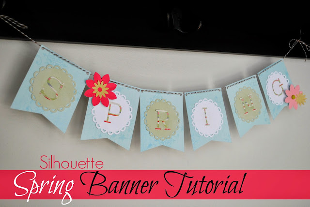paper banner bunting, cutting paper with silhouette cameo