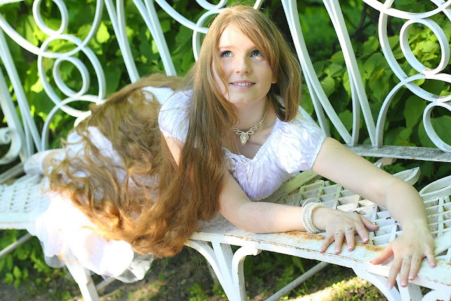 Woman with very beautiful long hair