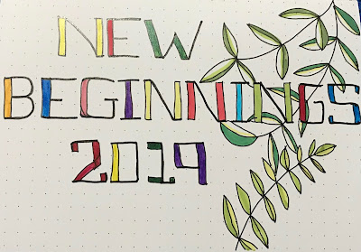drawing of words, new beginnings, 2019, hand drawing
