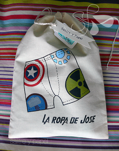 Bolsa de viaje personalizada para ropa interior pintada a mano