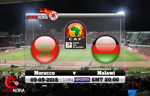 مشاهدة مباراة المغرب ومالاوي اليوم 8-9-2018 تصفيات كأس أمم أفريقيا