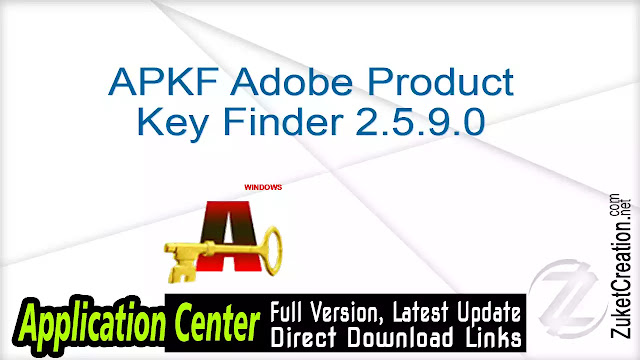 APKF Adobe Product Key Finder