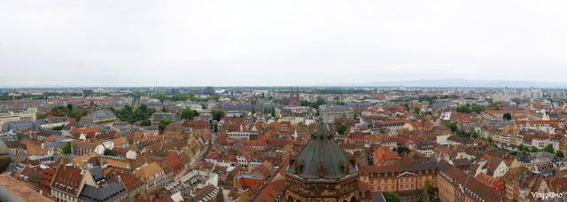 Panorama dalla balconata della Cattedrale di Strasburgo