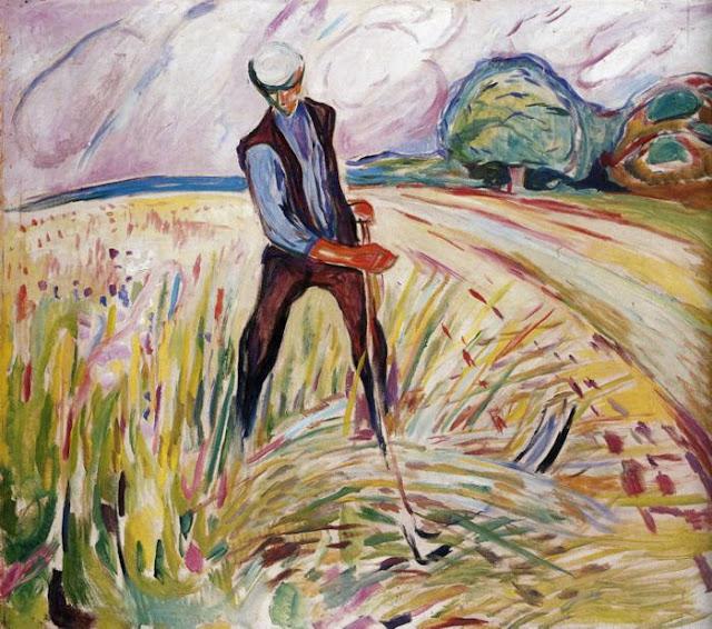 Эдвард Мунк - Косарь. 1916