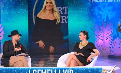 Bianca Guaccero abbigliamento vestito nero 23 marzo