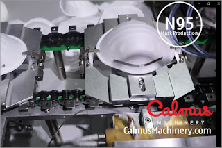 Nose Clips Fixing - Fully-automatic N95/FFP2 Cup Respirator Mask Production Line