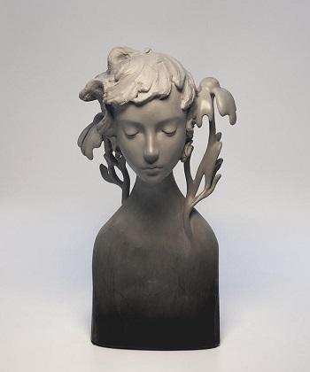 Amy Sol, esculturas chidas, hadas del bosque, rostros tristes, mujer