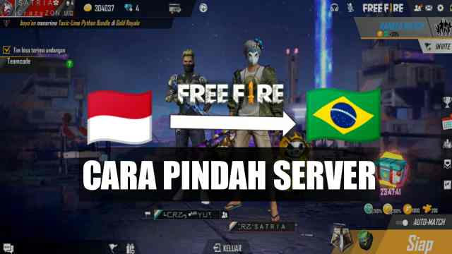 cara ganti server free fire