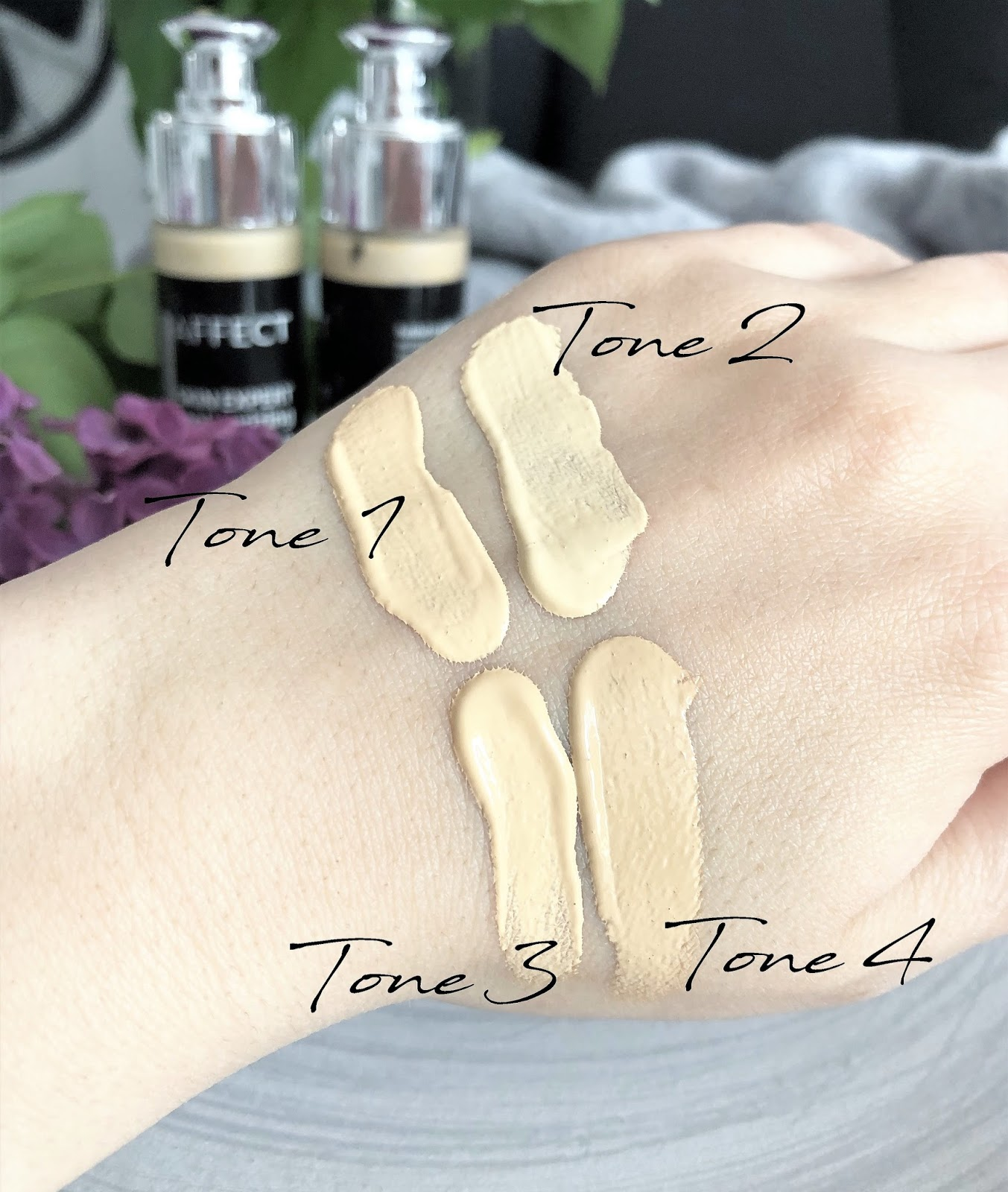 zolty-podklad-Affect-Skin-Expert-moisturizing-foundation-swatches