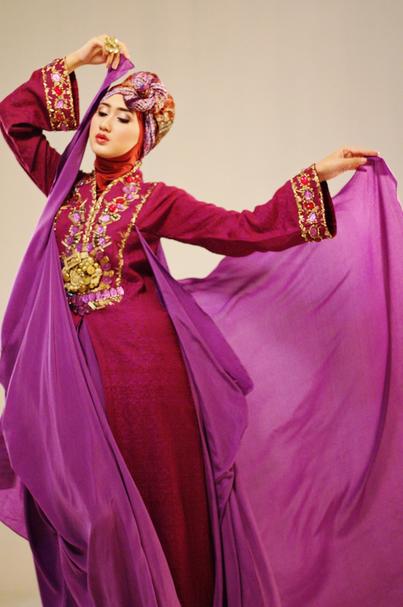 Desain Baju Kebaya Muslim Rancangan Dian Pelangi Model ...