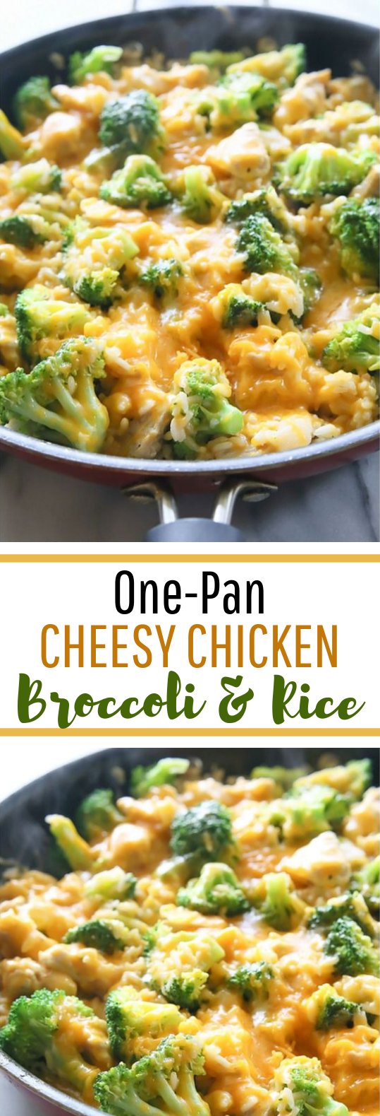 One-Pan Cheesy Chicken, Broccoli, and Rice #deliciousmeal #quickrecipe