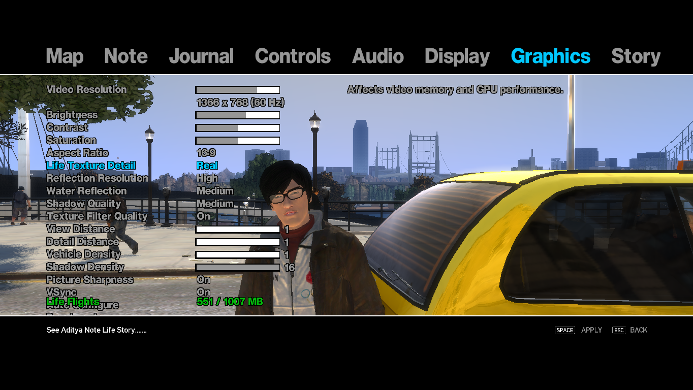 Real Life Mod GTA IV: New Graphic Settings ( 1 0 4 0)
