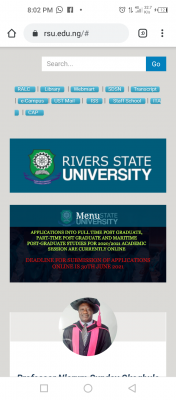 RSUST extends postgraduate application deadline for 2020/2021 session